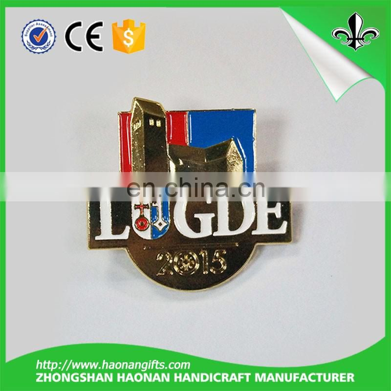 High quality custom metal lapel pin badge for promotion