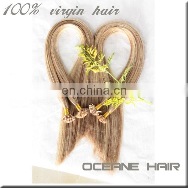 Soft thick double drawn weft hair extension blonde hair 100 percent raw virgin brazilian hair