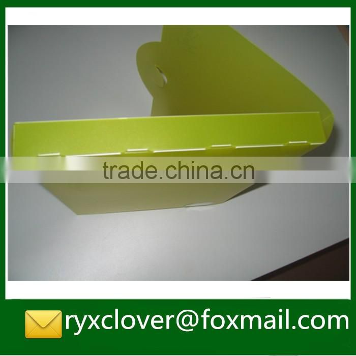 School & office stationery A4 size PP plastic customized color document box with handle