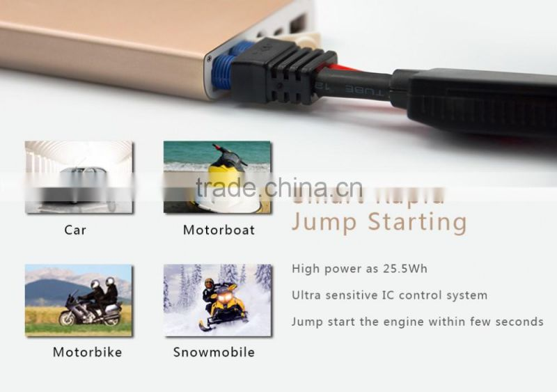 Aluminum case car jump starter,car jump starter for motorbike , e power multi-function jump starter for 12v car