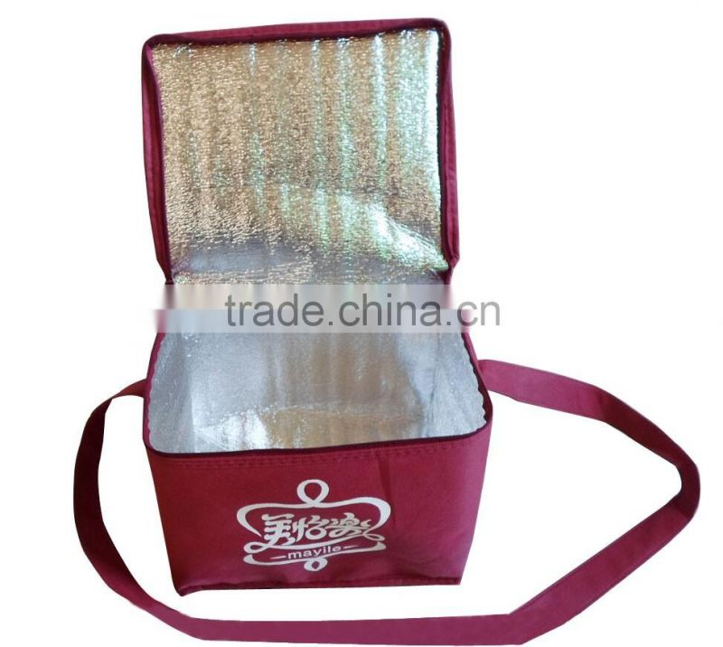 factory direct cheap promotional insulated non woven cooler bag