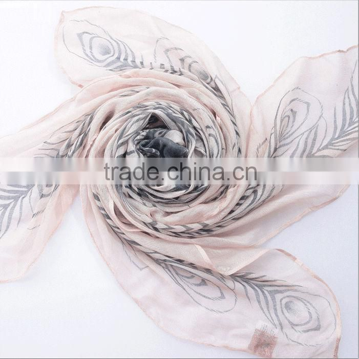 Women High Quality Fashion Printing All March Long Scarf