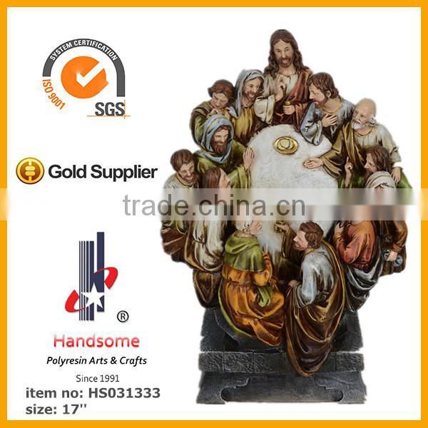 2014 New polyresin figurines christian religious items last supper