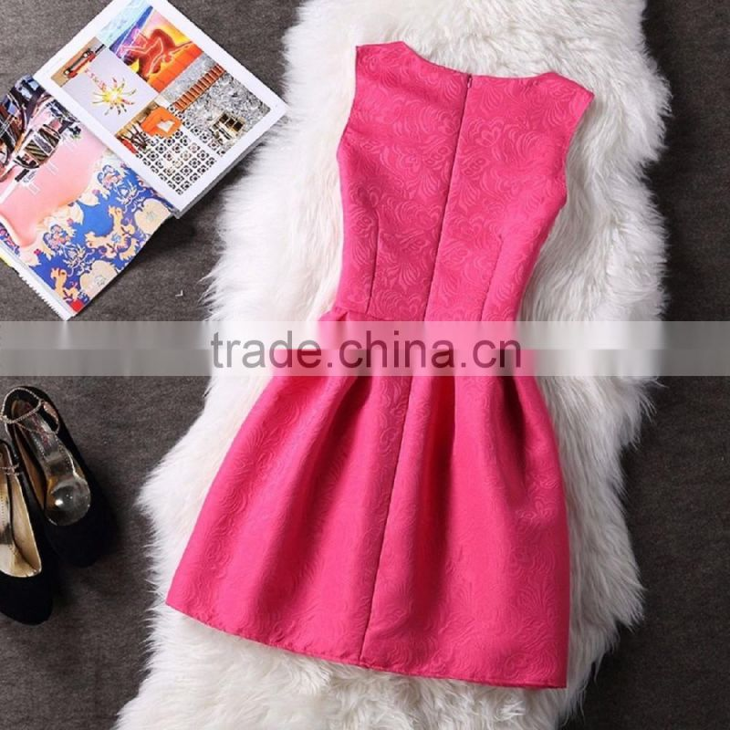 New style Summer Women Vintage Sleeveless Bodycon Casual Party Evening dress