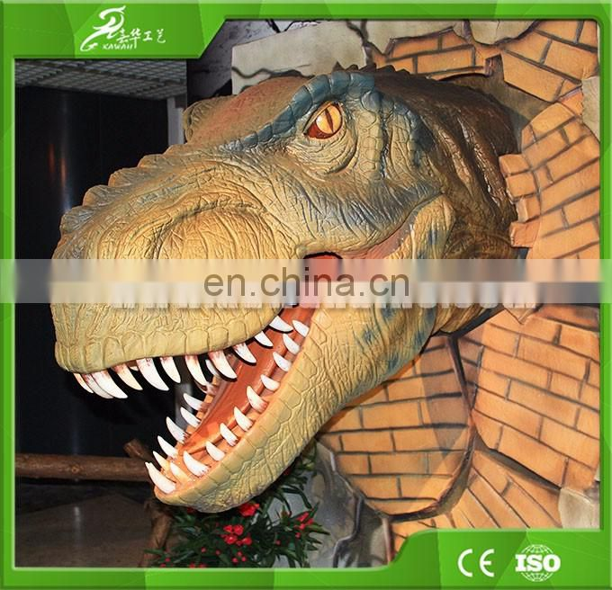 2016 Lifelike Customized Movable Animatronic Realistic Life Size Wall Mounted Head