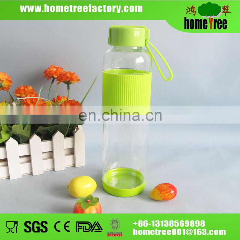 New fashion BPA free clear plastic drinking water bottle 600ml