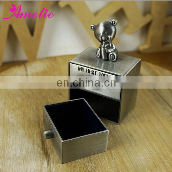 A6B40P New Arrival Fancy Baby First Tooth & Curl Box Baby Gift Box
