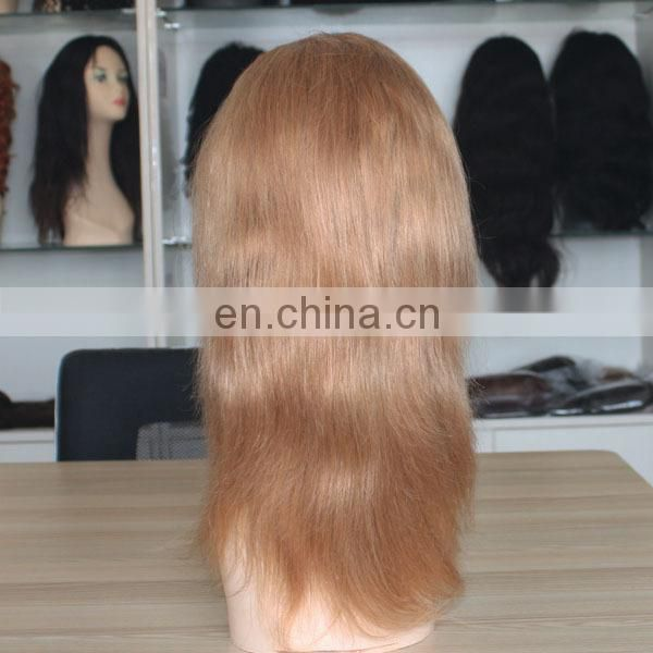 wholesale cheap natural hairline blonde human hair full lace wig for white women human hair