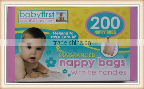 Scented Disposable Nappy Bags Fragranced Baby Diaper Hygienic Tie Handle Sacks