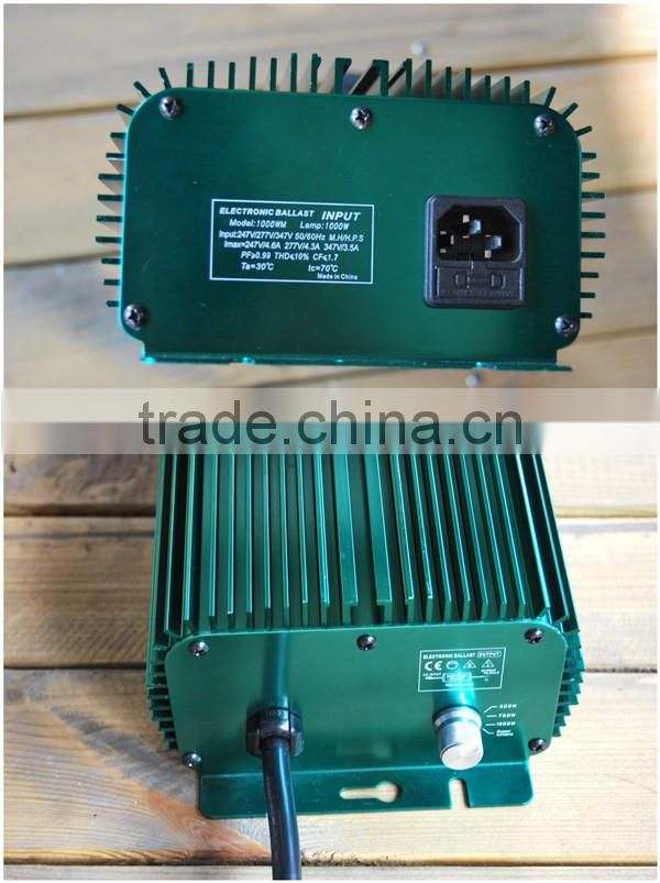 2016 hydroponics digital ballast with fan/ 1000w 600w 400w electronic ballast without fan