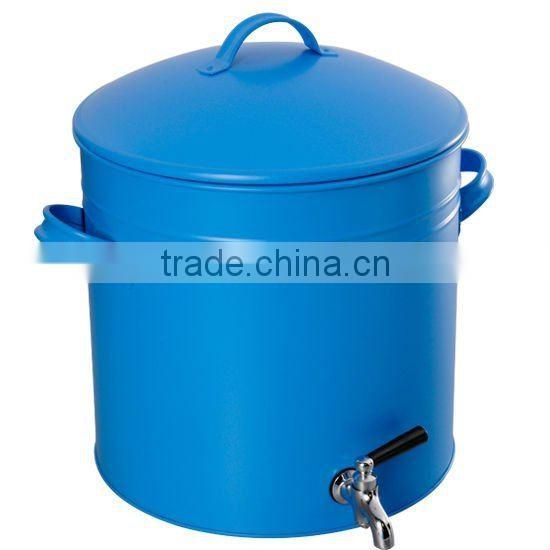 Blue Galvanized Steel & Power Coating Oval Holder / Ice Bucket wholesale