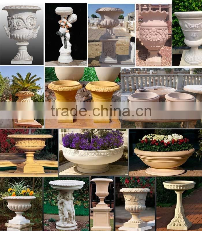 high quality marble religious animal flower pot decor NTMF- FP214X