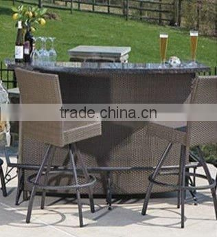 balcony Outdoor Furniture Leisure Rattan Bar Set