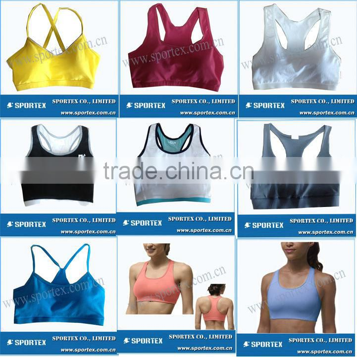 Girl's top tank / Fashional Sport gym bra /Fitness top bra for grils