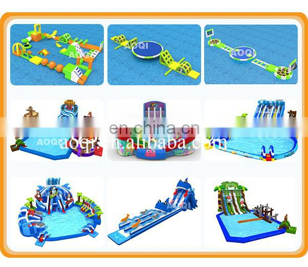2017 hot new design funny kid size inflatable small pool water slide