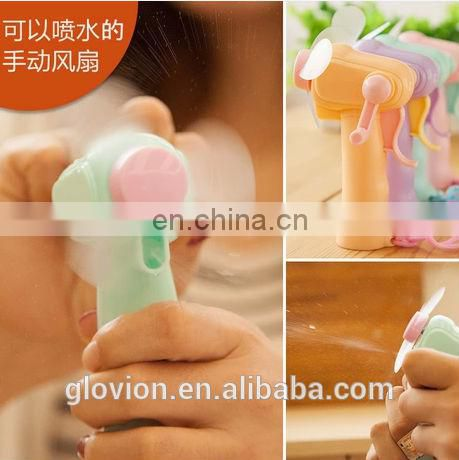 Hot Sale mini electric hand fan manual operation fan water mist spray fan