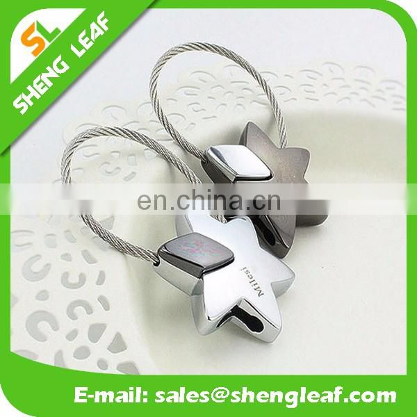 3D Metal sweet key chain engraved keychain custom metal keyring for couple