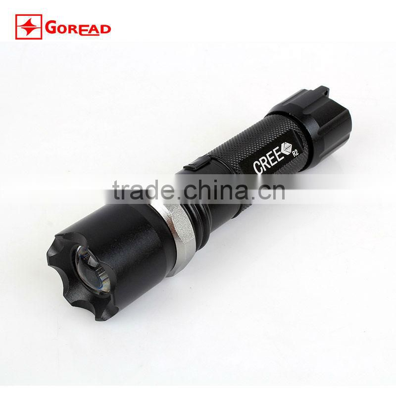 Goread C28 AA 14500 rechargeable zoom aluminum LED torch light