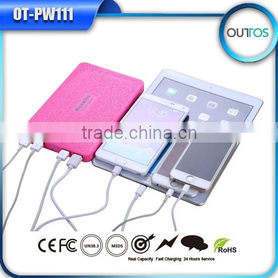 Ultral thin most powerful power bank 16000mah with 4 USB