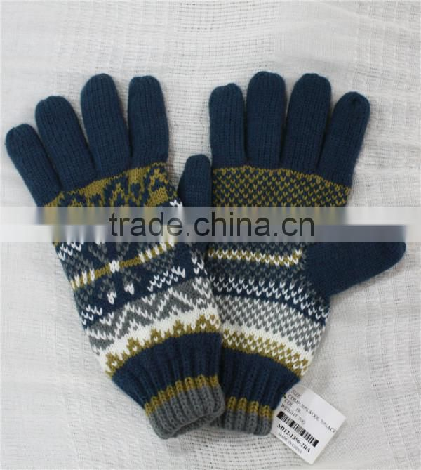 winter acrylic knitted lady gloves