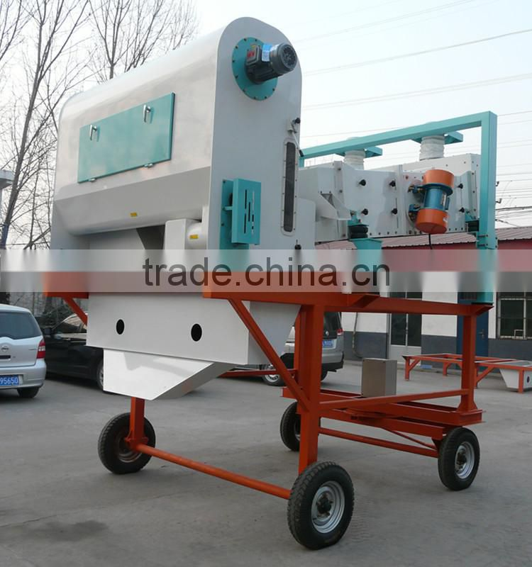 Complete sets of mobile grain quinoa cleaning machine