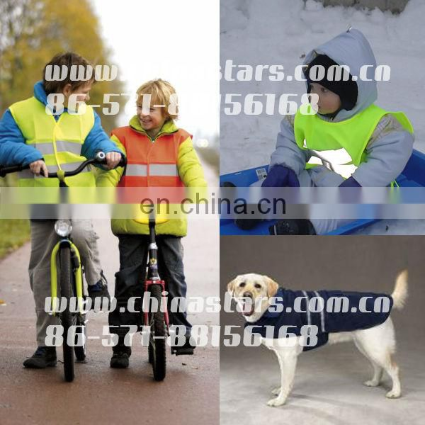 Blue reflective safety vests with pockets