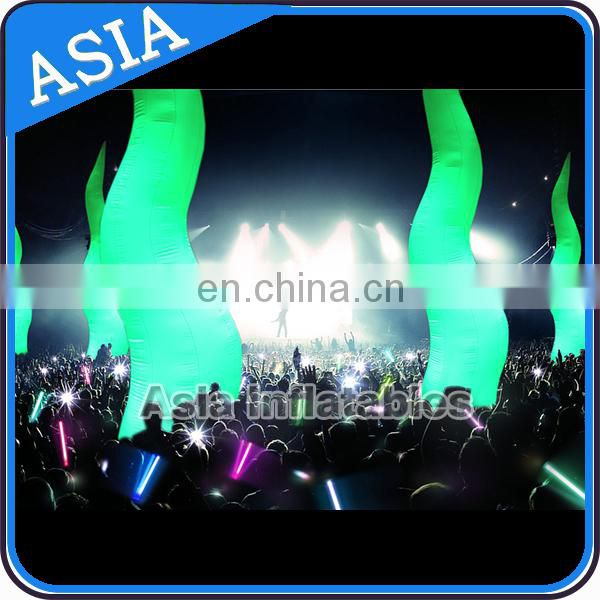 Led Light Advertising Lighting Inflatables Cone , Led Inflatable Pillar , Led Inflatable Column