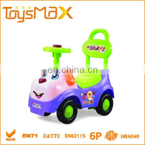 Hot Selling Free Wheel Baby Car, Cheap Plastic Ride On Toy Car with Certificate