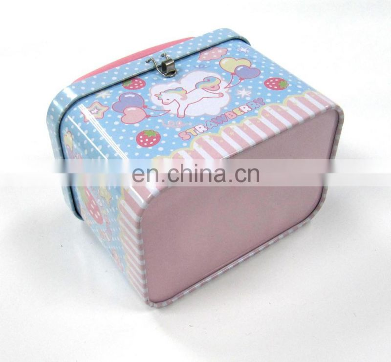 Promotion High Quality rectangle shape take away lunch tin box