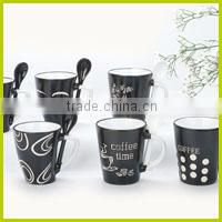 hand painted coffee mugs for hot sale, round shape bowl