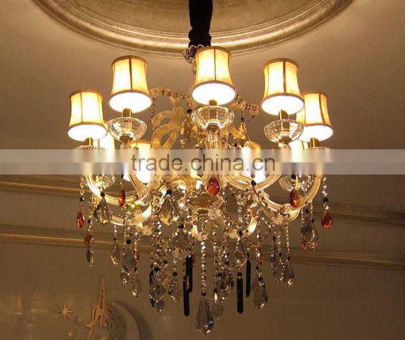 10 lights high qulity small size old gold traditional multi color maria theresa crystal chandelier