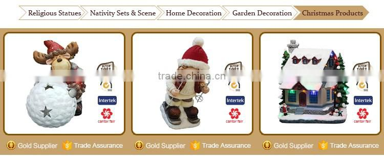 Wholesale Santa Claus Snowman Craft Resin Snowman Craft