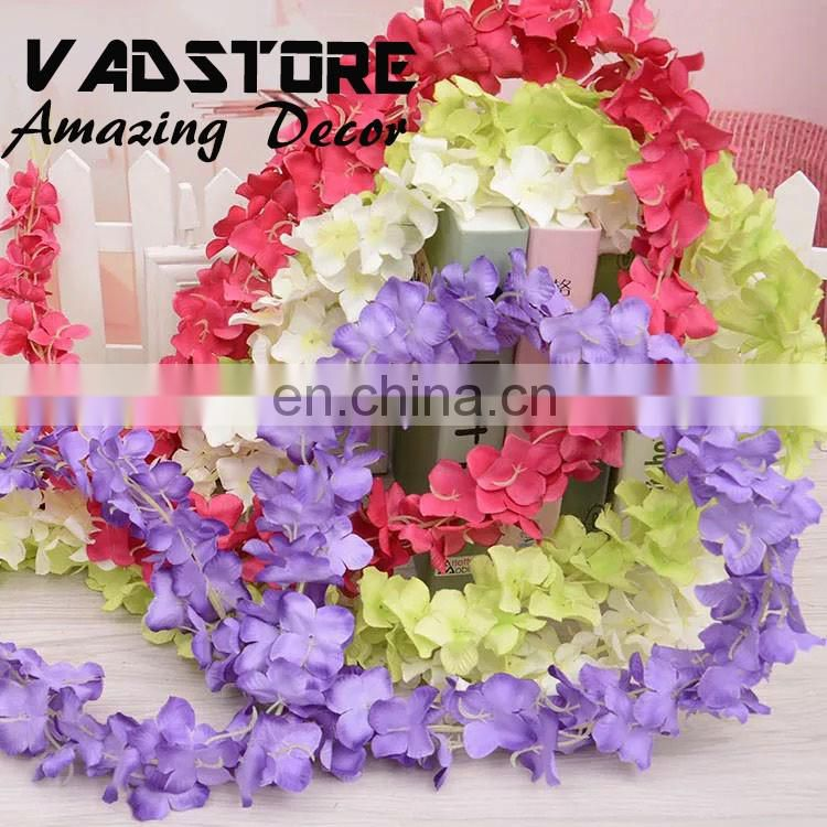 Artificial Silk Wisteria Home Garden Hanging Flowers Plants 6.5ft Wisteria Wedding Vine Decor Wedding Flower Garland