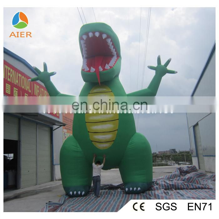 Inflated dinosaur for advertising
