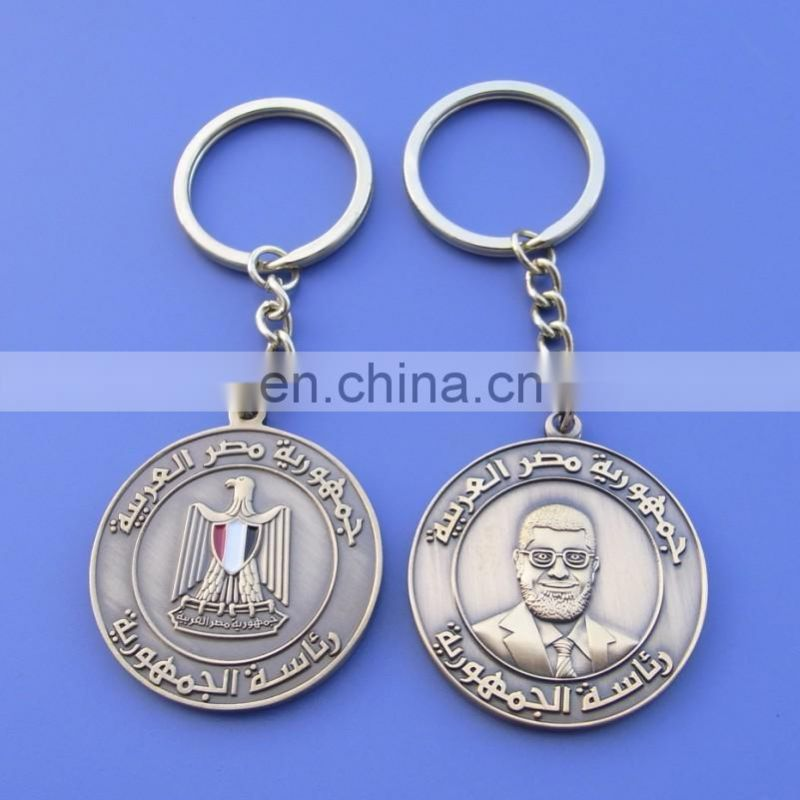 Best selling items Silver metal annulus shape zinc alloy casting personal blank keychain