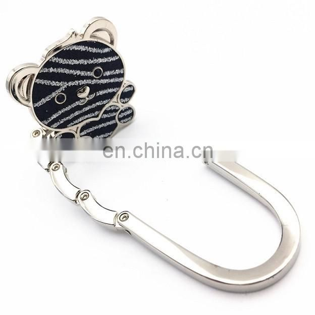 Wholesale Love bear foldable table bag purse hanger