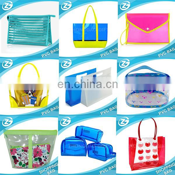 Wholesale Different Designs Cheap Price Fashion Christmas Promotional Gift Colorful Printed PVC Plastic Custom Zipper Bag