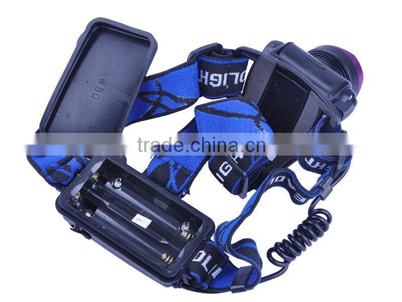 Waterproof Outdoor Usage 1800 Lumens 1xCREE XML T6 LED Rechargeable High power led headlamp