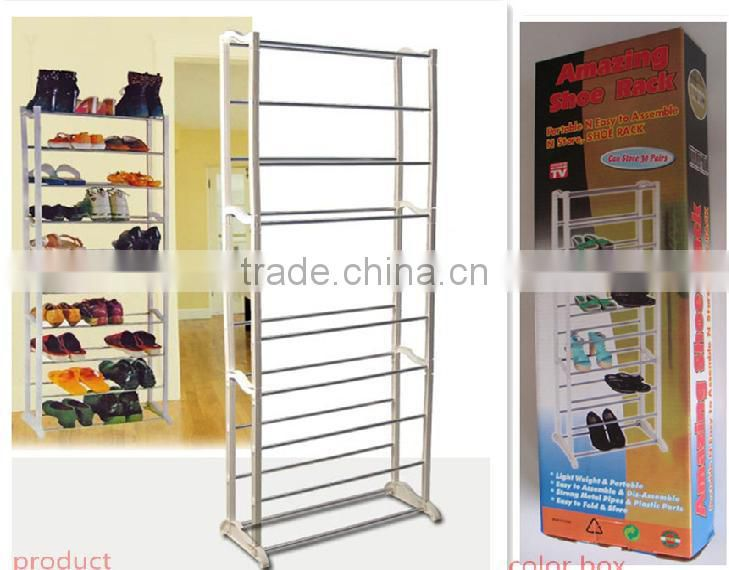 large metal shoe rack in special style