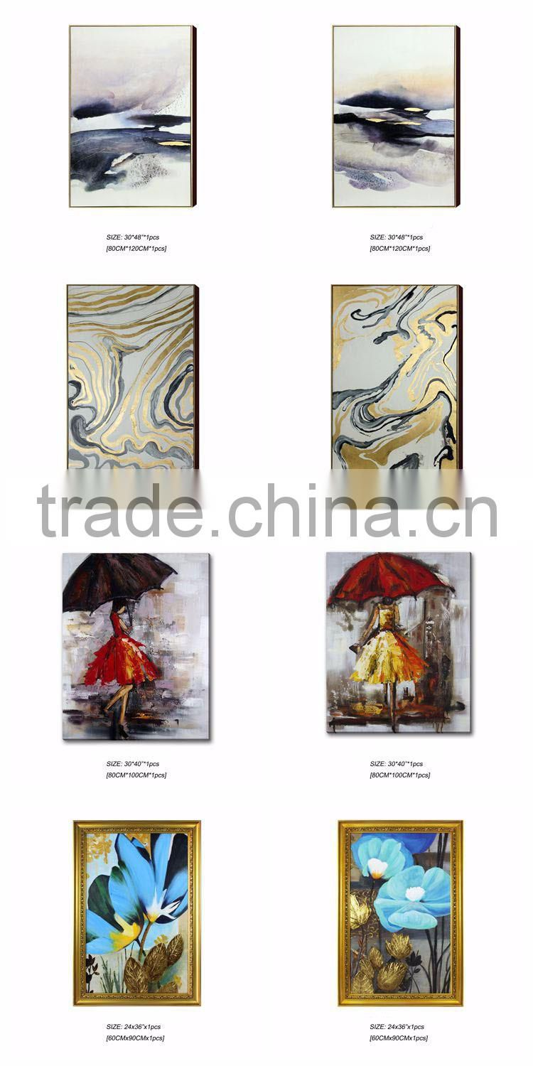 Handmade Boy And Girl Oil Painting