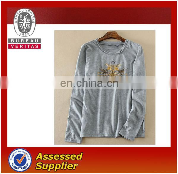 Printing fashion long sleeve T-shirt for younger