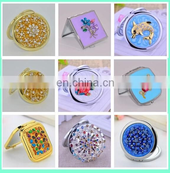 2016 New Lady's makeup cosmetic pocket compact mirror
