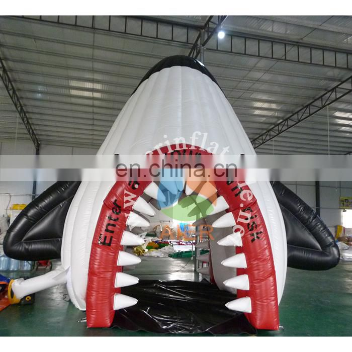 Most popular arch inflatable pvc shark inflatable arch rental cheap for party arch tent