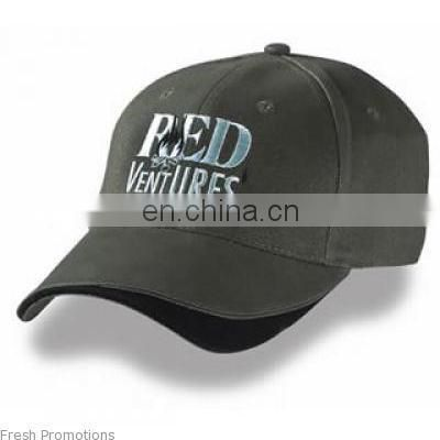 Custom logo printing 100% cotton baseball cap