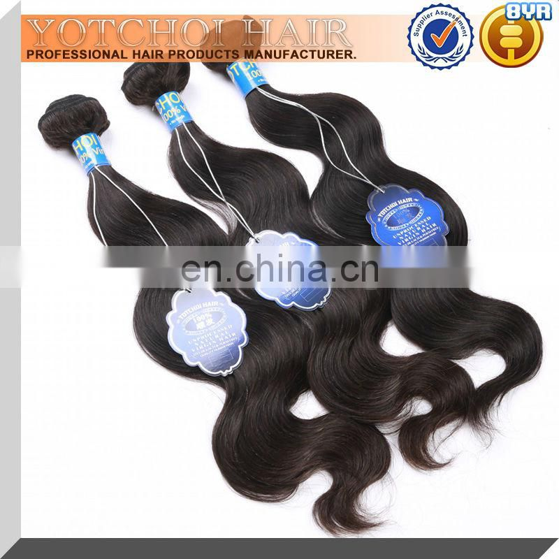 Top virgin brazilian hair 3 bundles mixed length 10---34inch,100% human hair bundles