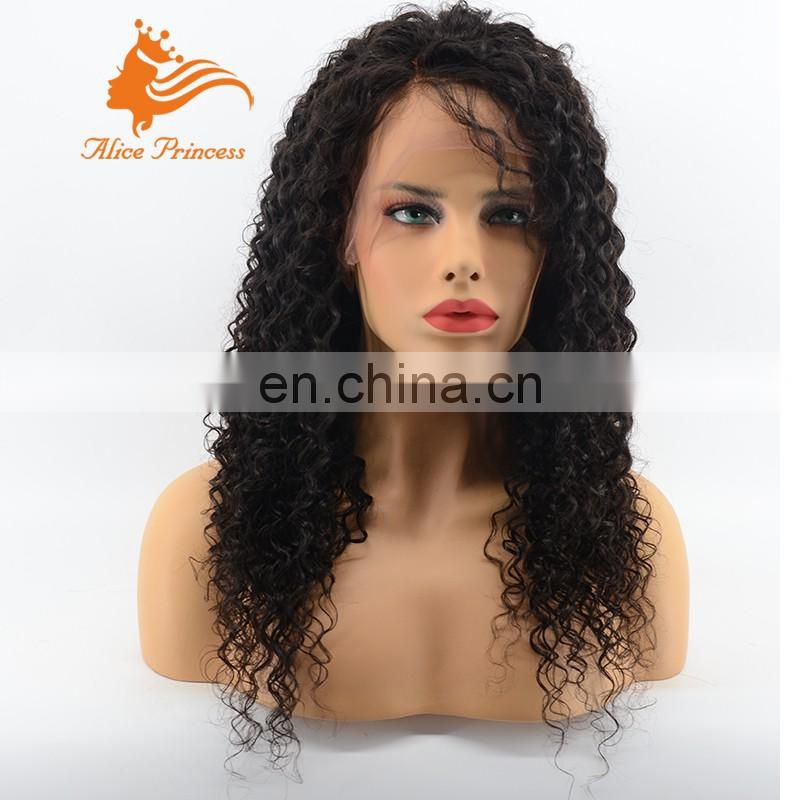 Good Quality Virgin Brazilian Kinky Curly Hair Full Lace/Lace Front Wig.