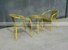 rattan chairs and coffee table
