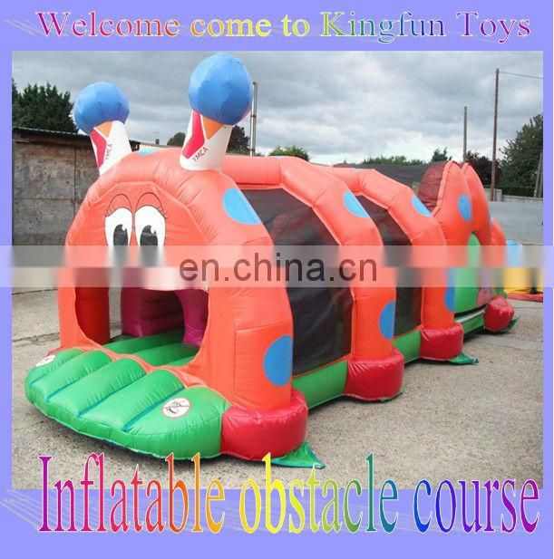 indoor/ourtdoor inflatable obstacle tunnel for kids