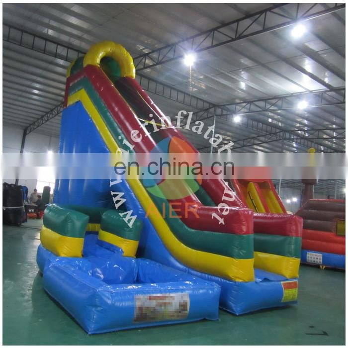 Popular Design Inflatable whril Slide with pool