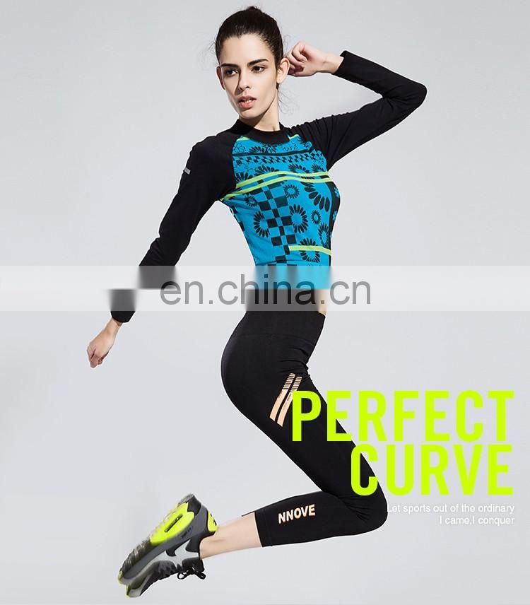 Women new style charming totem long sleeve gym tees